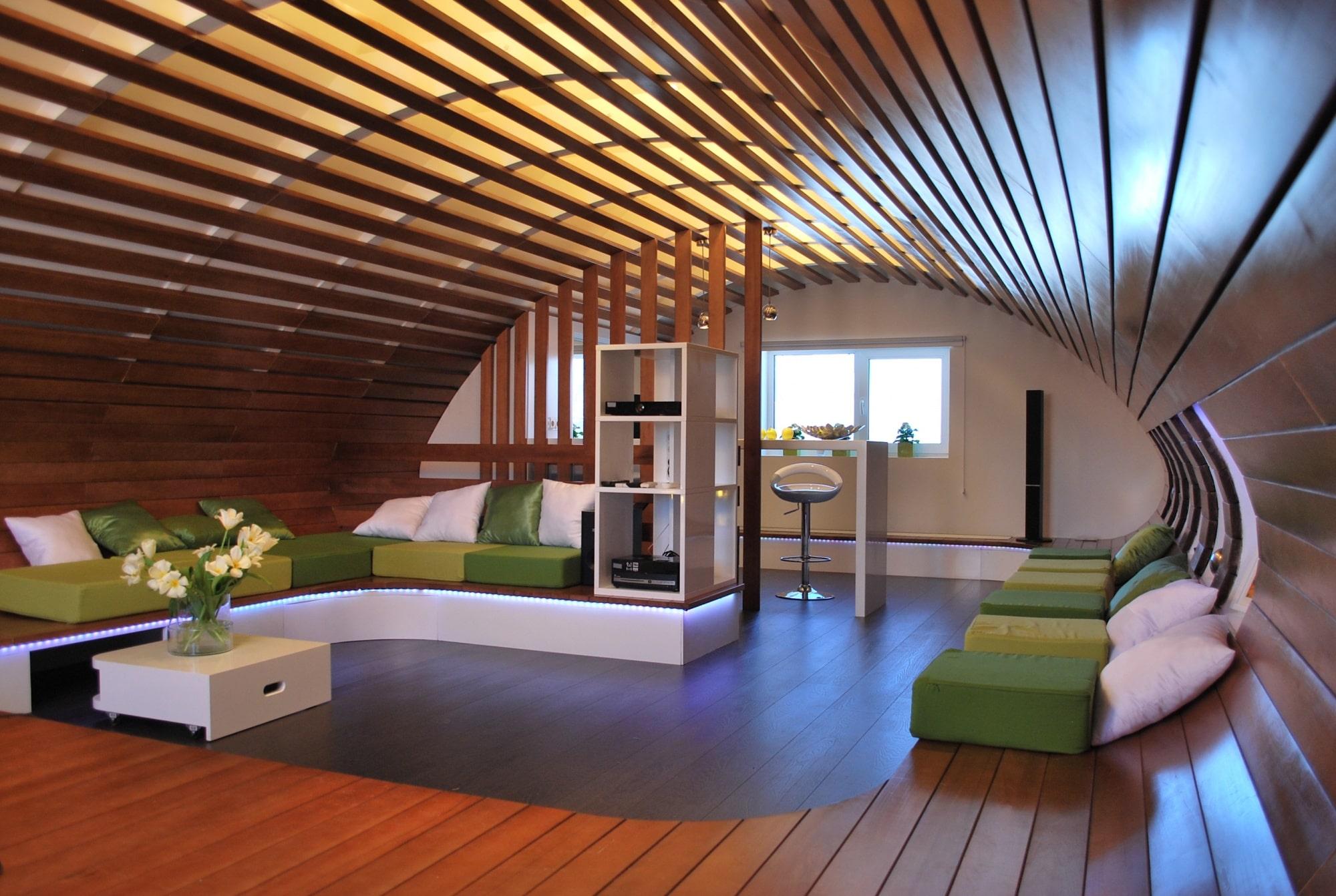 Дизайн мансардной крыши
